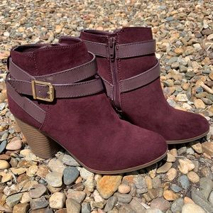 Macy's Material Girl Mlexia Wine Booties